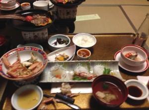 旅館の食事